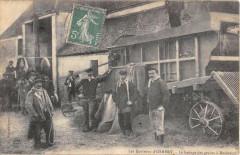 Les Environs D'Osmery Le Battage Des Grains A Rochefort (Cpa Agriculture - Osmery