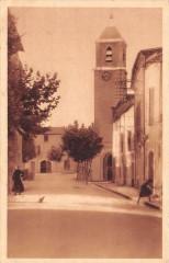 Canet De L'Herault La Grand'Rue Et Le Clocher (cliché pas courant - Canet