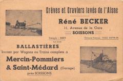 Soissons Greves Et Graviers Rene Becker Ballastieres Livrant Pour Wagons - Soissons
