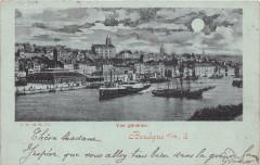 Boulogne Sur Mer Vue Generale (dos non divisé) Timbre Type Sage Au Verso - Boulogne-sur-Mer