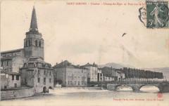 Saint Girons Clocher Champ De Mars Pont Salat - Saint-Girons