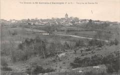 Vue Generale De Saint Gervais D'Auvergne Bouche Tei - Saint-Gervais-d'Auvergne