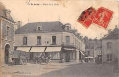 Le Lude Place De La Halle (dos non divisé) - Le Lude