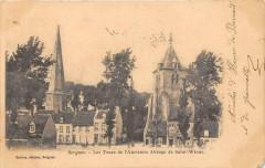 Bergues Les Tours De L'Ancienne Abbaye St Winoc (dos non divisé) - Bergues