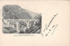 Pont De La Cadeyne Canton Mur De Barrez (dos non divisé) - Mur-de-Barrez