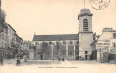 Arcueil Cachan Eglise Place Du Marche (dos non divisé) 94 Arcueil