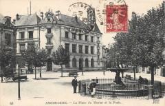 Angouleme La Place Du Murier Et La Poste - Angoulême