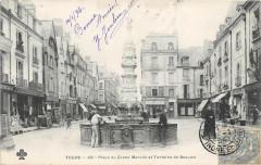 Tours Place Du Grand Marche Fontaine De Beaume (dos non divisé) - Tours