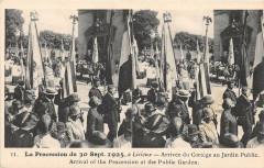 La Procession A Lisieux Arrivee Du Cortege Au Jardin Public (Animation - Lisieux