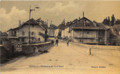 Rumilly Faubourg Et Pont Neuf (cpa toilée émaillée - Rumilly