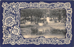 Paris IIIe Square Du Temple (cpa avec encadrement avec broderie - Paris 3e