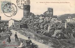 Ruines Du Chateau De Rochetaille Pres DeSaint-Etienne - Roche