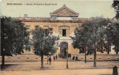 Montbrison Ecole Primaire Superieure (cpa toilée émaillée - Montbrison
