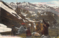 Les Pyrenees Repas De Patres En Montagne - Mont