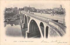 Albi Le Pont Neuf Et Le Lycee (dos non divisé) - Albi