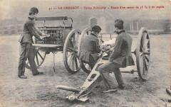 Le Creusot Usine Schneider Essai D'Un Canon - Le Creusot