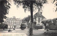 Ezanville Le Chateau Et L'Eglise - Ézanville