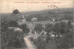 Monesties Vue Generale Et Avenue D'Albi - Monestiés