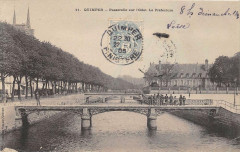Quimper Passerelle Sur L´ODET  La Prefecture - Quimper