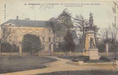Avranches Sous Prefecture  Et Monument Des Soldats (dos non divisé) - Avranches