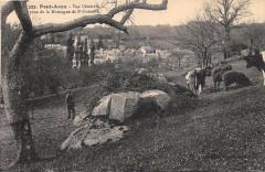 Pont Aven Vue Generale Prise De La Montagne DeSaint-Guenole - Pont-Aven