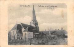 L'Eglise et le Presbytère Cliché A C. - Couzon