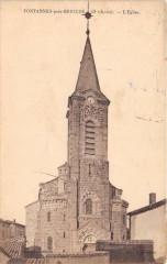 Fontannes Pres Brioude Eglise - Fontannes
