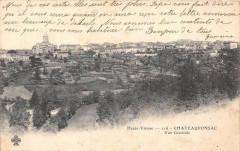 Chateauponsac Vue Generale  (dos non divisé) - Châteauponsac