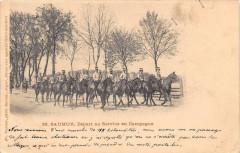 Saumur Depart Au Service En Campagne (dos non divisé) - Saumur