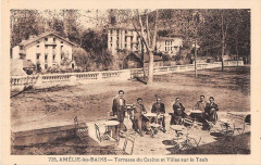 Amelie Les Bains Terrasse Du Casino Et Villas Sur Le Tech - Err