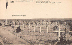 Somme Suippe Cimetiere Militaire Carre De Tombes N°3796 A 4006 - Somme-Suippe