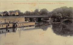 Villeneuve Saint Georges Pont Du Chemin De Fer De L'Yerres (Cpa émail 94 Villeneuve-Saint-Georges
