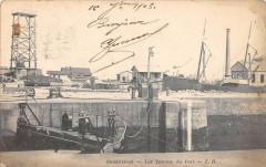 Ouistreham Les Travaux Du Port (dos non divisé) - Ouistreham