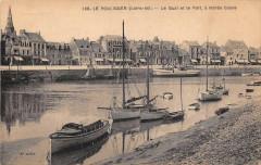 Le Pouliguen Le Quai Et Le Port A Maree Basse - Le Pouliguen