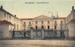 Montbrison Sous Prefecture (cpa toilée émaillée - Montbrison