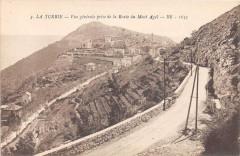 La Turbie Vue Generale Prise De La Route Du Mont Agel - La Turbie
