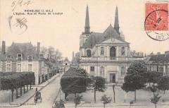 Richelieu Eglise Rue Et Porte De Loudun - Richelieu