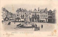 Abbeville La Place De L'Amiral Courbet (dos non divisé) - Abbeville