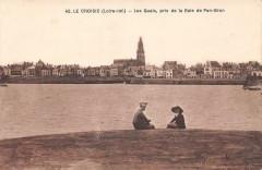 Le Croisic Les Quais Pris De La Baie De Pen Bron - Le Croisic