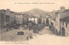 Billom Place Du Marche Aux Porcs (cliché pas courant - Billom