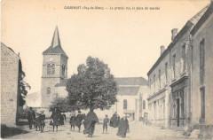 Charensat Grande Rue La Place Du Marche (cpa pas courante - Charensat