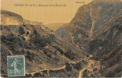 Thiers Montagne De La Margeride (cpa toilée émaillée - Thiers