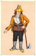 Cpa Illustrateur Basse Auvergne Paysan De Royat - Royat