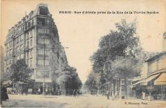 Rue d'Alésia prise de la Rue de la Tombe Issoire - Paris 14e