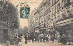 Rue de Meaux prise de la rue du Rhin - Paris 19e