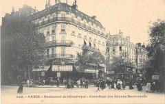 Paris IIe Boulevard De Sebastopol Carrefour Des Grands Boulevards - Paris 2e