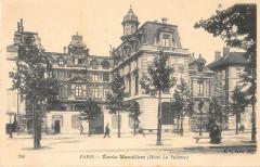Paris IVe Ecole Massillon Hotel La Vallette (dos non divisé) - Paris 4e