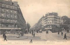 Paris Xe Perspective Du Bd Magenta Vue Prise Carrefour St Laurent - Paris 10e