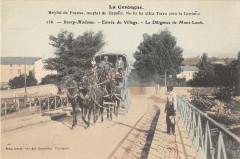 Bourg Madame Entree Du Village La Diligence De Mont Louis - Bourg-Madame