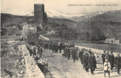 Vernet Les Bains Funerailles D'Un Blesse - Vernet-les-Bains